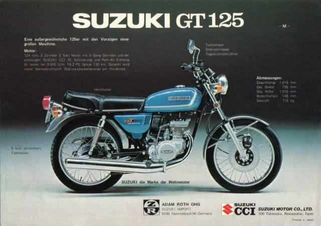 Suzuki GT 125M technical specifications